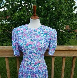 Karin Steven's Vintage 90s Floral Dress